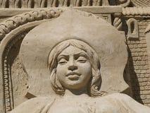 公主沙子雕塑 免版税库存图片