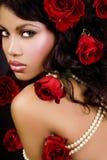 公主红色玫瑰 免版税库存照片