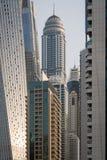 公主Tower在迪拜小游艇船坞,阿拉伯联合酋长国 库存照片