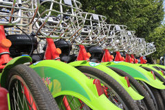 公众自行车在amoy城市 图库摄影