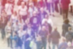 公众观点迷离背景,人群鸟瞰图  免版税库存图片