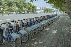 公众释放自行车 免版税库存图片