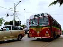 公共交通在孟买 库存图片