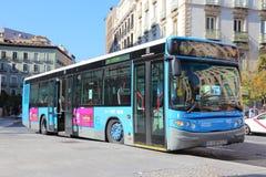 公共交通在马德里 免版税库存照片
