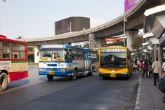 公共交通工具公共汽车在曼谷,泰国 免版税库存图片