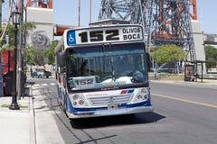 公共交通工具向拉博卡,布宜诺斯艾利斯,阿根廷 库存图片