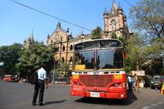 公共交通工具在孟买印度 免版税库存照片