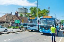 公共交通工具在斯里兰卡 库存图片
