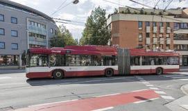 公共交通工具在萨尔茨堡,奥地利 免版税图库摄影