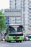 公共交通工具在崇公清宫市中心,中国 免版税库存图片