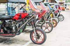 公共交通工具在Ko Sichang,泰国 免版税图库摄影