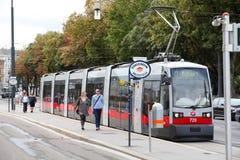 公共交通工具维也纳 图库摄影