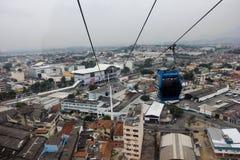 公共交通工具-火车和缆绳车的里约热内卢 免版税图库摄影