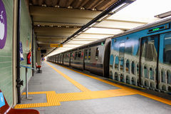 公共交通工具-火车和缆绳车的里约热内卢 库存照片