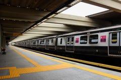 公共交通工具-火车和缆绳车的里约热内卢 免版税库存图片