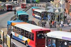 公共交通,利物浦 免版税库存图片