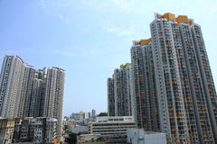 公共住房在香港 免版税库存图片