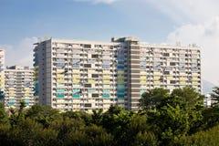公共住房庄园在香港 免版税图库摄影