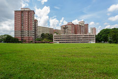 公共住房庄园看法在新加坡 库存照片