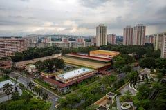 公共住房庄园鸟瞰图在新加坡 免版税库存图片