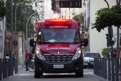 公共卫生危机在里约热内卢 库存图片