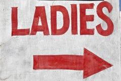 公共厕所的标志夫人 免版税库存照片