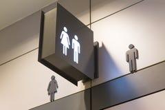 公共厕所的标志 免版税库存照片