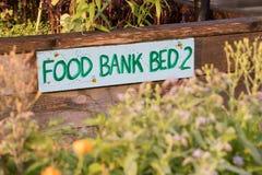 公共庭院食物储蓄所床 库存图片