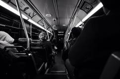公共汽车乘驾 讲我故事 免版税库存图片