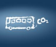 公共汽车二氧化碳排放 免版税图库摄影