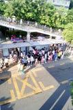 公共汽车人等待 库存图片