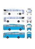 公共汽车传染媒介模板 免版税库存图片