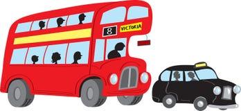 公共汽车伦敦出租汽车 免版税库存照片