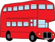 公共汽车伦敦 库存例证