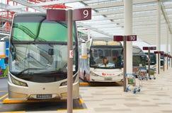 公共汽车停车处在机场 新加坡 库存图片