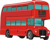公共汽车分层装置双红色 库存图片
