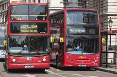 公共汽车分层装置双著名伦敦红色 免版税库存图片