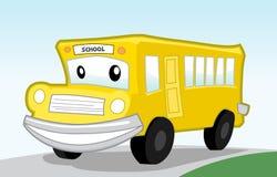 公共汽车动画片 库存例证