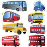 公共汽车图标集 免版税库存照片