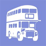 公共汽车图标 库存例证