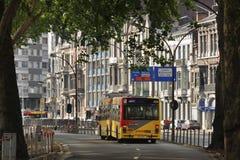 公共汽车在列日 免版税库存图片