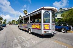 公共汽车在基韦斯特岛 库存照片