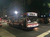 152公共汽车在布宜诺斯艾利斯 免版税图库摄影