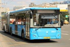 公共汽车在莫斯科 免版税库存照片