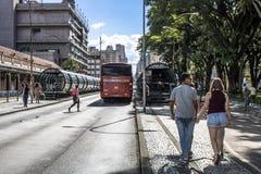 公共汽车地铁车站 库存照片