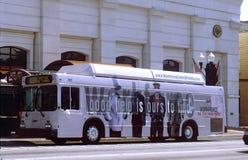 公共汽车城市标志 免版税图库摄影