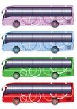 公共汽车城市颜色 免版税图库摄影