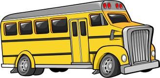公共汽车学校向量 库存例证