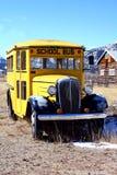 公共汽车学校葡萄酒 库存图片