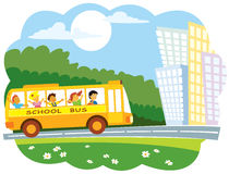 公共汽车学校 向量例证
